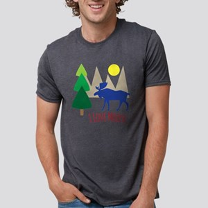 I Love Moose Mens Tri-blend T-Shirt