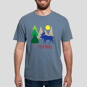 I Love Moose Mens Comfort Colors Shirt