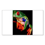 Colorful Frog Sticker (Rectangle 50 pk)