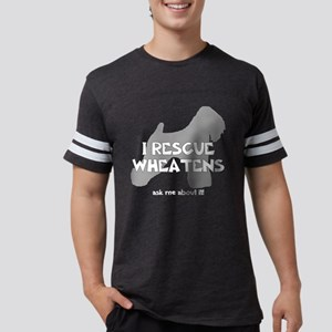 3-IRescuewheatens_black Mens Football Shirt