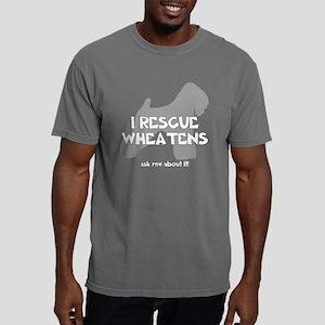 3-IRescuewheatens_black. Mens Comfort Colors Shirt