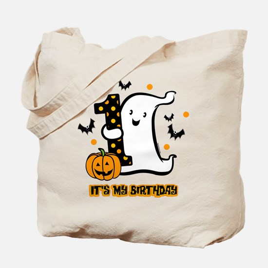 Little Ghost 1st Birthday Tote Bag