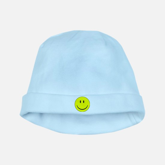 big smiley face baby hat