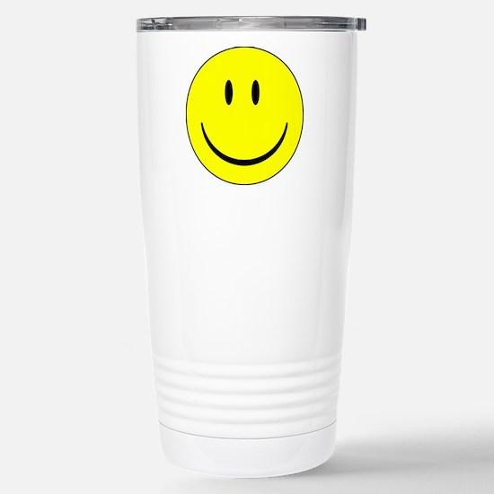 big smiley face Stainless Steel Travel Mug