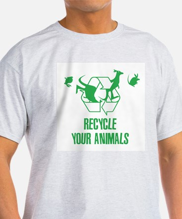 Recycle Your Animals Ash Grey T-Shirt