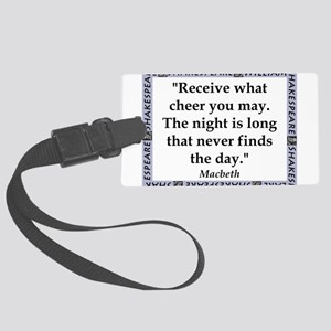 Receive What Cheer Luggage Tag