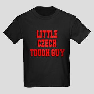 Little Czech Tough Guy Kids Dark T-Shirt