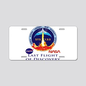Last Flight of Discovery Aluminum License Plate
