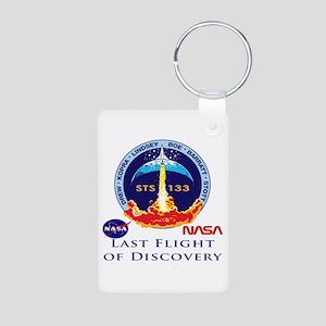 Last Flight of Discovery Aluminum Photo Keychain