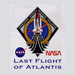 Last Flight of Atlantis Throw Blanket