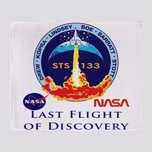 Last Flight of Discovery Throw Blanket