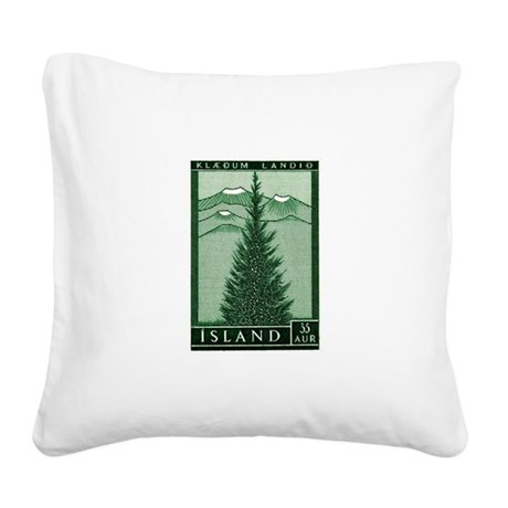 1957 Iceland Spruce with Volcanoes Stamp Square Ca