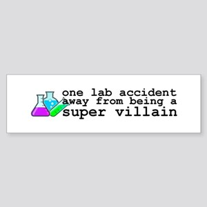 Lab Accident Super Villain Sticker (Bumper)