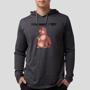 Custom Hamster Mens Hooded Shirt
