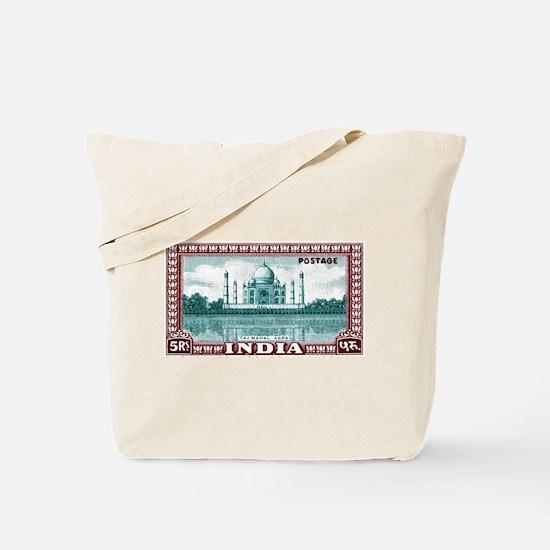 1940 India Taj Mahal Postage Stamp Tote Bag