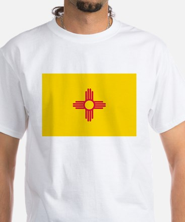 New Mexico flag White T-Shirt