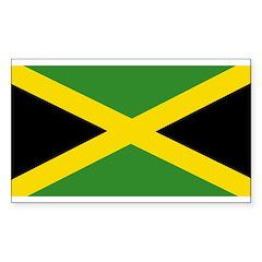 Jamaica flag Sticker (Rectangle 50 pk)