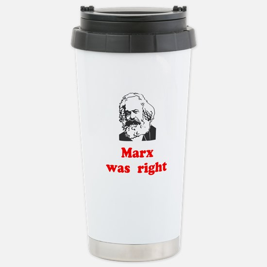 Marx was right #3 Stainless Steel Travel Mug