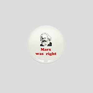 Marx was right #3 Mini Button