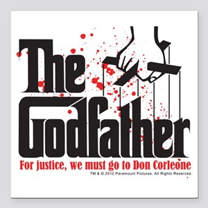 """The Godfather Square Car Magnet 3"""" x 3"""""""