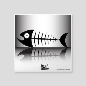 "Sleeping Fish Square Sticker 3"" x 3"""