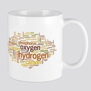 Chemical Elements Word Cloud Mug