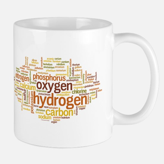 Chemical Elements Word Cloud Mug
