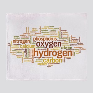 Chemical Elements Word Cloud Throw Blanket