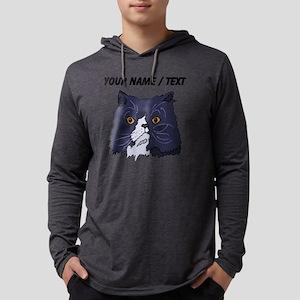 Custom Cat Face Mens Hooded Shirt