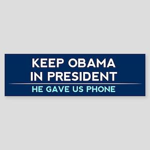 Keep Obama in President Sticker (Bumper)