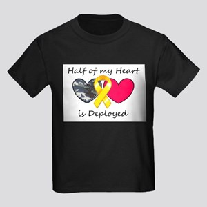 Half of my Heart Blue Camo Kids Dark T-Shirt