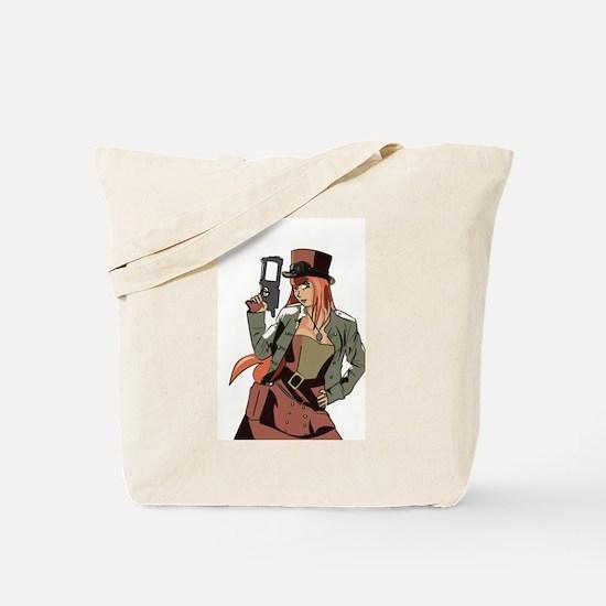 Steampunk Anime Girl Tote Bag