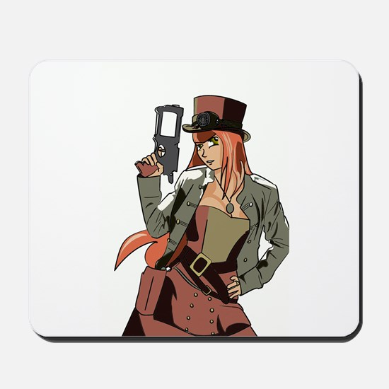 Steampunk Anime Girl Mousepad