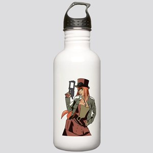 Steampunk Anime Girl Stainless Water Bottle 1.0L