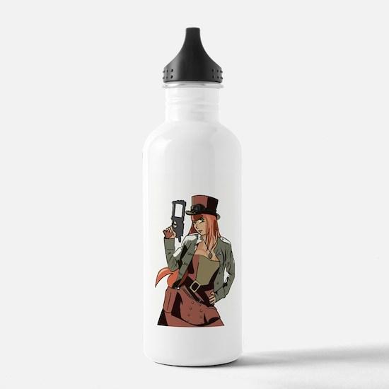 Steampunk Anime Girl Water Bottle