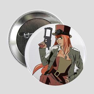 """Steampunk Anime Girl 2.25"""" Button"""