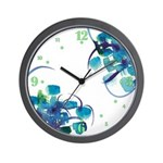 Atom Sea #9 Wall Clock with hours