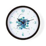 Atom Sea #9 Wall Clock with hours II
