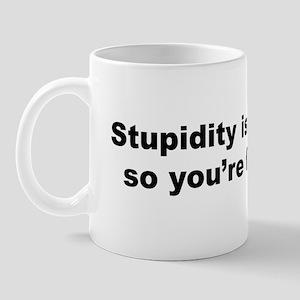 Stupidity isn't a Crime Mug