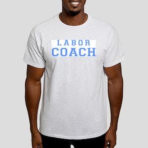 Labor Coach (blue) Ash Grey T-Shirt