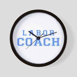Labor Coach (blue) Wall Clock