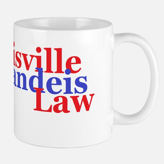 Louisville Brandeis Law Red and Blue Mug
