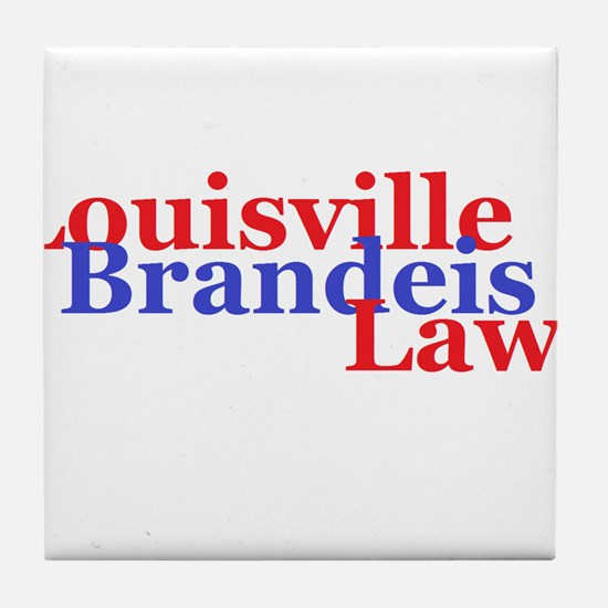 Louisville Brandeis Law Red and Blue Tile Coaster