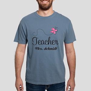 Teacher Cute Personalize Mens Comfort Colors Shirt