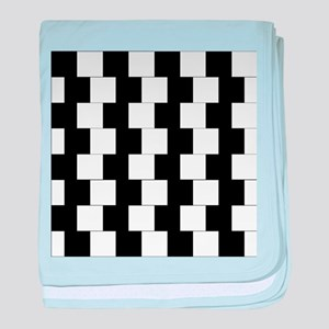 Parallel Illusion Grids baby blanket