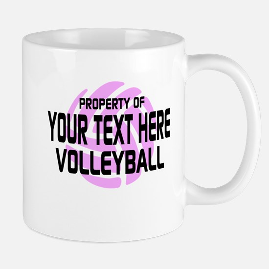Property of Your Team Volleyball Mug