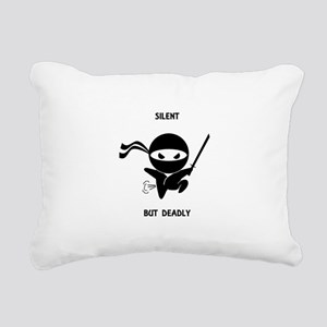 Silent but deadly Rectangular Canvas Pillow
