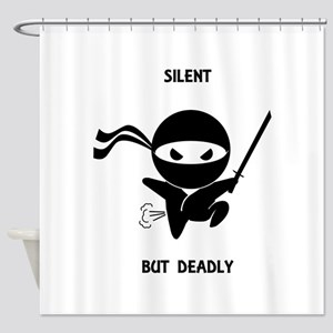 Silent but deadly Shower Curtain