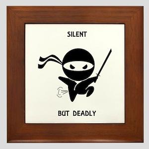 Silent but deadly Framed Tile