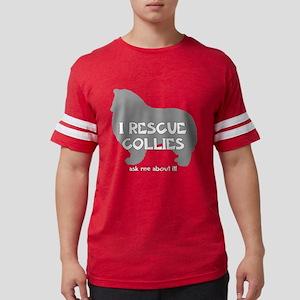 3-IRescuecollies(rough)_black. Mens Football Shirt